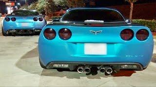 TURBO Mustang STREET RACES ZR-1 Corvettes!