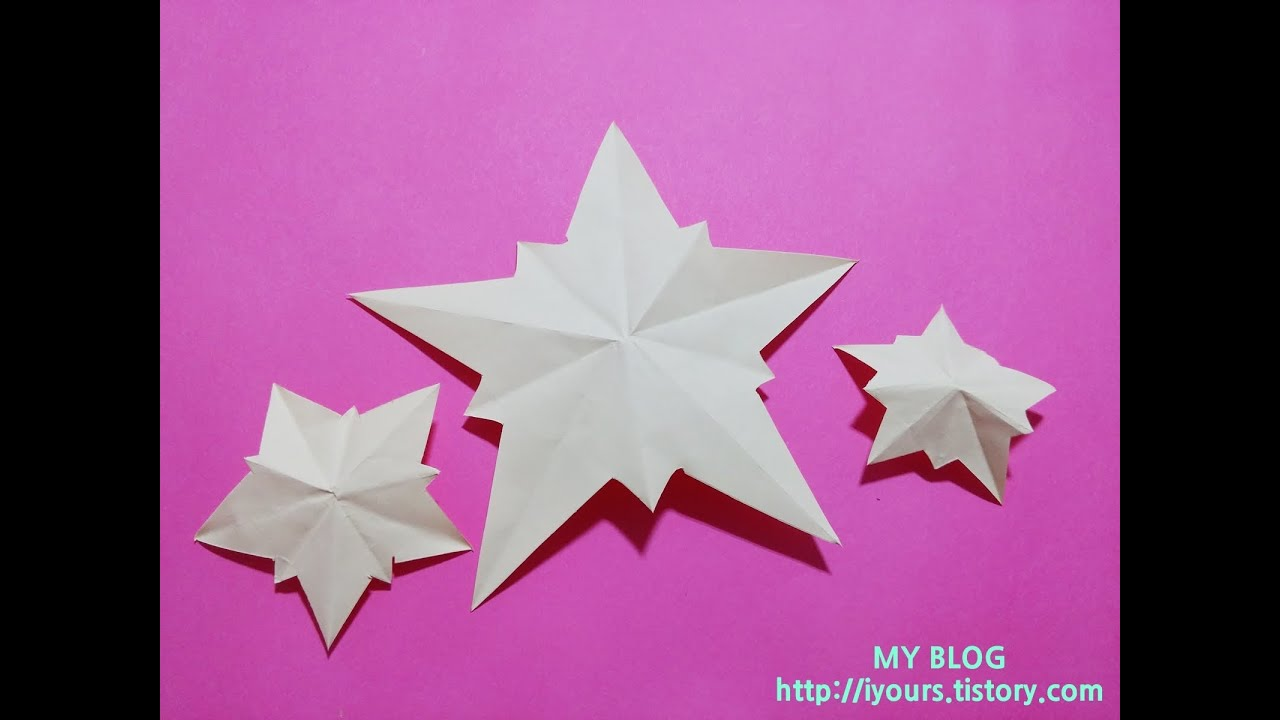Papercraft EASY PAPER CUTTING shining Star, 쉬운 별 종이 오리기