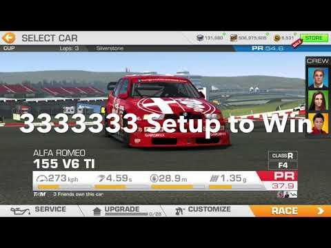 Real Racing 3 Race Day Vintage: Alfa Romeo 155 V6 TI Winning Costs, Full Upgrade Tree