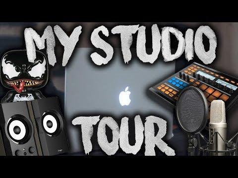 MY HOME STUDIO! (Kid Travis ROOM TOUR 2018!)