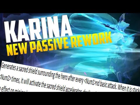 KARINA NEW PASSIVE?! MOBILE LEGENDS KARINA REWORK!