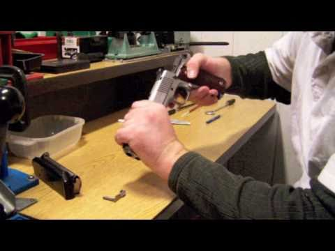 How to clean and lubricate a 1911 pistol.