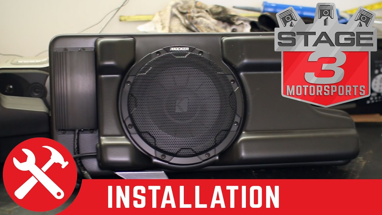 2008 2016 F250 F350 Kicker Vss Substage Powered Subwoofer Kit Wiring Sub Into Box Install Youtube