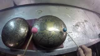 Steel tongue drum 432Hz vs 440Hz hijaz scale- by Gluckofon Unison
