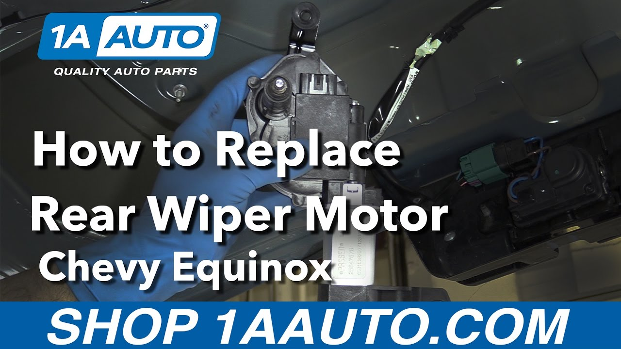 Windshield Wiper Motor >> How to Replace Rear Wiper Motor 07-09 Chevy Equinox - YouTube