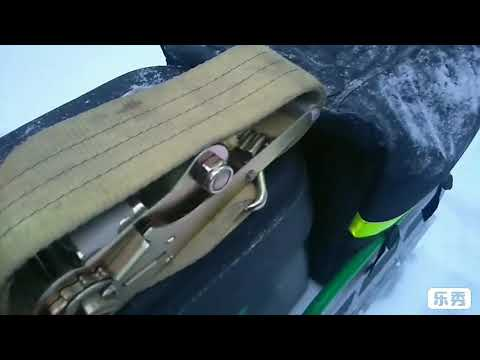 Подъёмник снегохода и лебёдка- стяжка груза