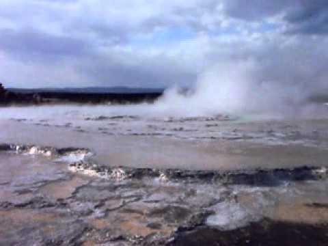 Great Fountain Geyser Eruption at Upper Geyser Basin, Yellowstone