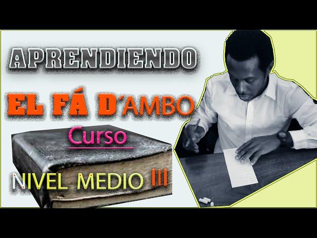 CURSO DE  FA D´AMBO LECCIÓN 4. Aprender la lengua annobonesa