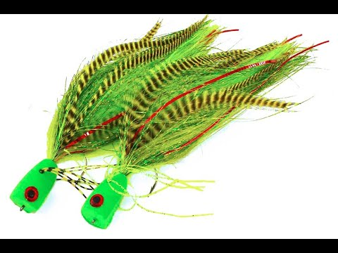 Popper Fly Tying Lesson Step By Step Pike Fly: The Hulk Popper