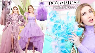 TRYING ON DONA MATOSHI PROM DRESSES !! + Giveaway !! *princess dresses*