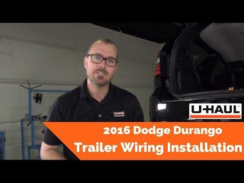 2016 Dodge Durango Trailer Wiring Installation