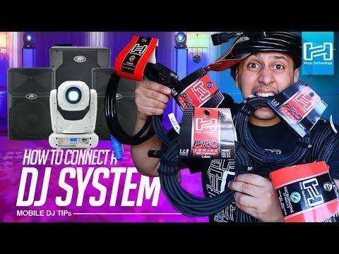 MOBILE DJ TIPs: How to set up a DJ System (Speakers & Lights)