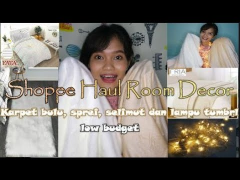 shopee haul room decor aesthetic#part1 kamar kost
