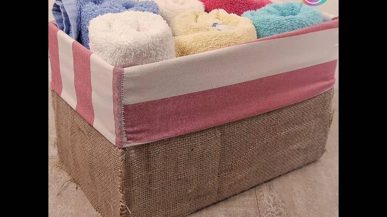 Convierte una caja de cart n en esta estilosa caja para for Cajas de plastico para guardar ropa