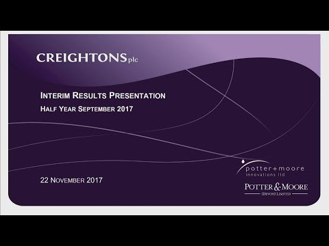 Creightons (CRL) H1 results presentation November 2017