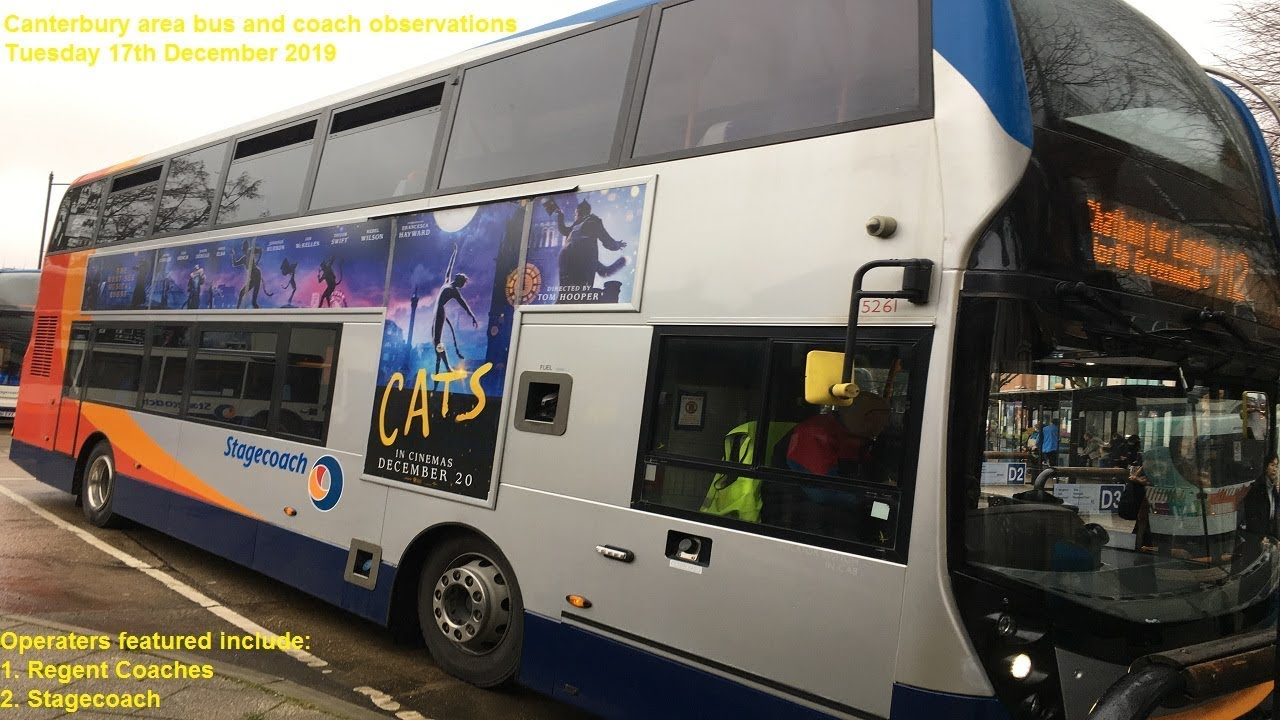 Canterbury bus and coach observations - Tuesday 17th December 2019