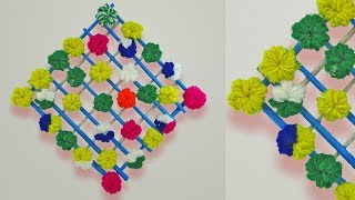 DIY Wall Hanging Out Of Wool /How to make Pom Pom Home Decoration /Diwali Special Woolen Toran