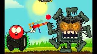 Многоногий квадрат нападает на красный шарик - мультик игра. Мультики для детей про красный шар