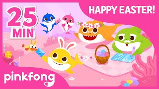 Easter Baby Shark And More | Compilation | Easter Egg Hunt | Pinkfong Songs For Children