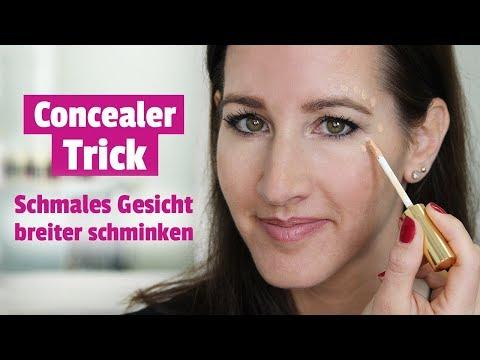 Concealer Trick Schmales Gesicht Breiter Schminken Youtube