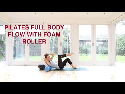 Pilates Full Body Flow With The Foam Roller 40 mins