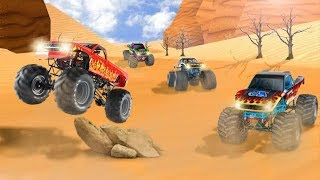 Monster Truck Desert Stunt Race Games #Free Truck Racing Games Download #Android Gameplay FHD
