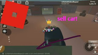 [Roblox]How to sell a car! | thief life simulator |