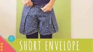 Aprenda a costurar um short envelope de amarrar