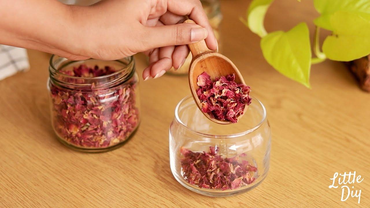 Clear skin beauty water, healthy skin tea, jasmine and rose oil for glowing skin - asmr