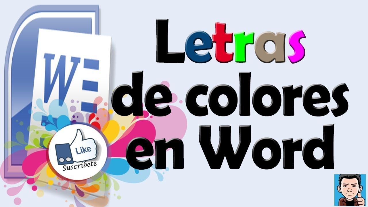 Como hacer letras de colores en WORD   YouTube