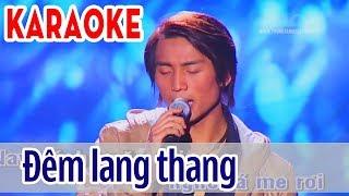 Đêm Lang Thang Karaoke - Đan Nguyên   Asia Karaoke Beat Chuẩn