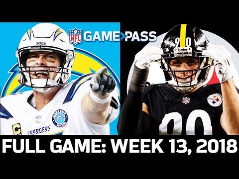 Los Angeles Chargers vs. Pittsburgh Steelers Week 13, 2018 FULL GAME