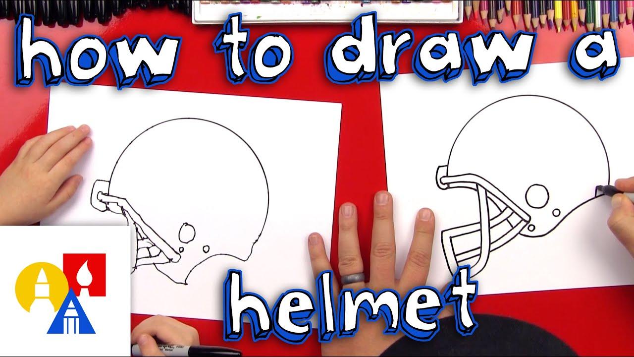 How To Draw A Football Helmet Art For Kids Hub