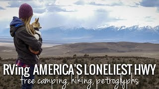 [RV Life & Travel] Ep. 95 America's Loneliest Highway || Nevada || Free Camping & Petroglyphs