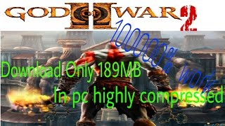 God of war 2 Highly compressed only189 mb for pc download 100% work in HD by All in One just 4 you!!