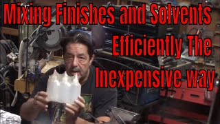 Harbor Freight 8oz Storage Bottles - Mixing Efficiently and Inexpensively