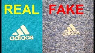 Real vs fake Adidas T shirt. How to spot fake Adidas Tees.