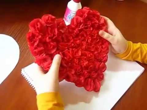 видео: Идеи рукоделия. Открытка своими руками. Открытка Сердце. Открытка на День Святого Валентина!