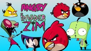 Angry Invader Zim (Angry birds animation parody)