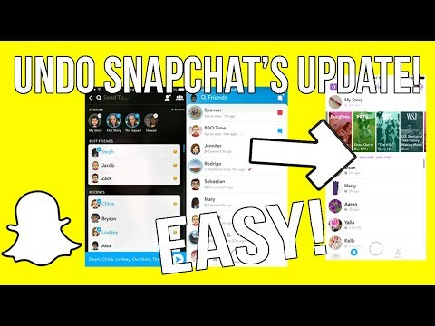 How to get old snapchat back on iphone 6s