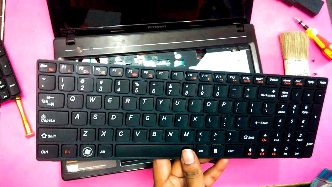 Lenovo Laptop Keyboard Replacement | Change in 5 Easy Minutes (Ideapad  G580) - TricK i Know