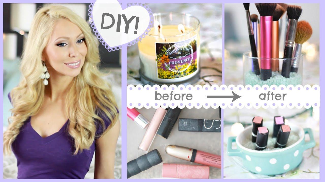 7 Easy DIY Makeup Storage Ideas  YouTube