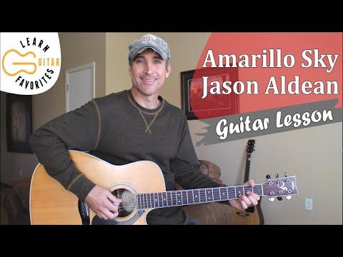 Amarillo Sky - Jason Aldean - Guitar Lesson | Tutorial