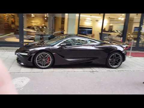 Gorgeous McLaren 720S Quartz(?) in beautiful 4k Ultra HD in Stockholm,  Sweden