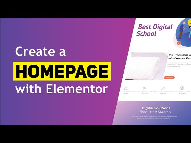 How to Create a Homepage Using Elementor 2020
