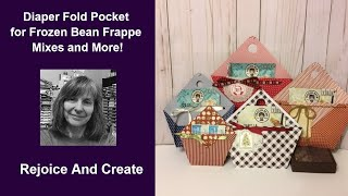 Easy Folded Paper Pocket for Frozen Bean Frappe Mixes and More!
