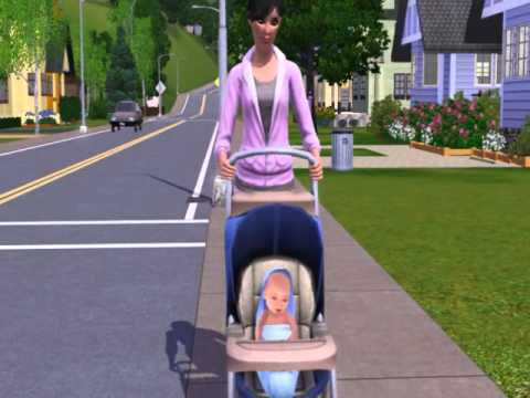 Sims 3 Baby In Stroller Youtube