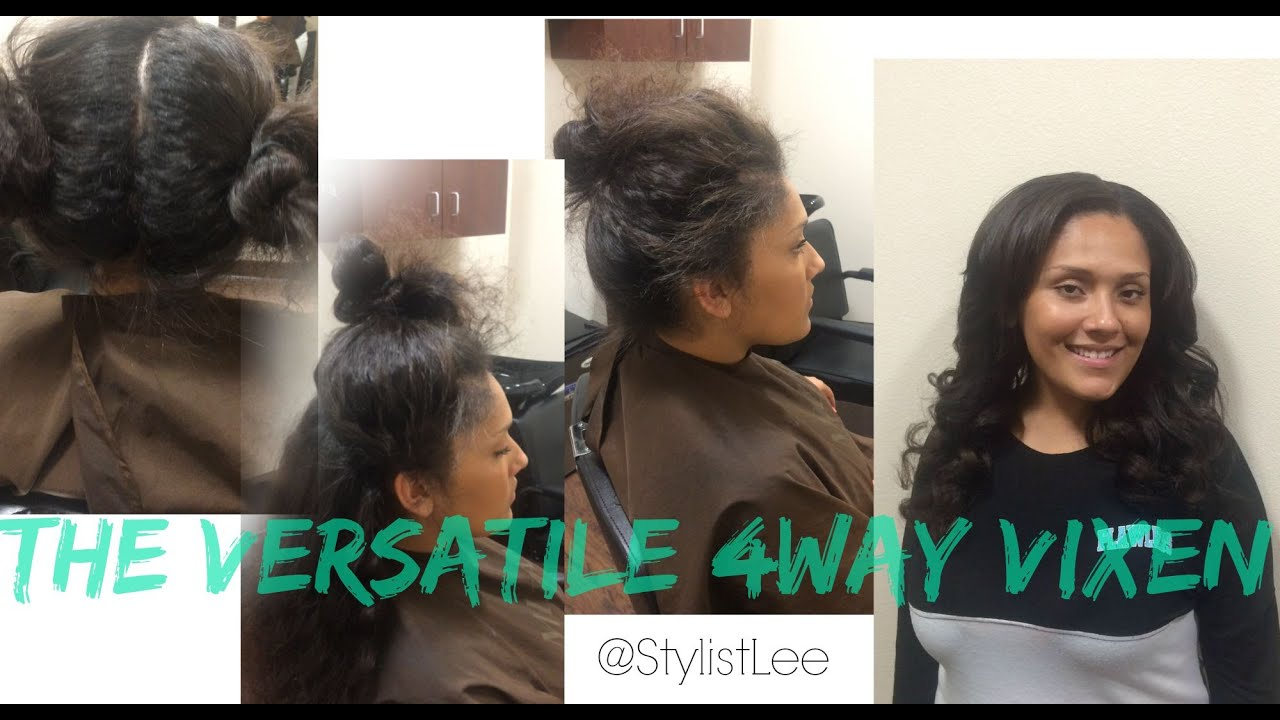 The 4way vixen sew in mixed chicks los angeles hair salon the 4way vixen sew in mixed chicks los angeles hair salon stylist lee youtube pmusecretfo Images