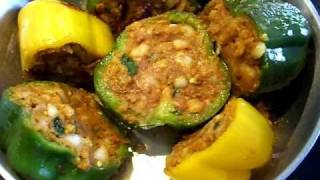 Stuffed Peppers/stuffed Capsicum/Bharva Shimla mirch/Masala Shimla mirch