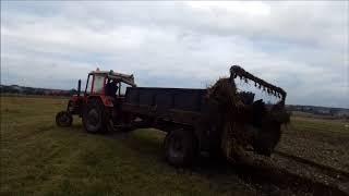 Obornik // 2018 //  nawozenie organiczne łąki Ursus c330 rozrzutnik 3.5t